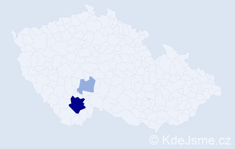 Příjmení: 'Kvašnovská', počet výskytů 9 v celé ČR