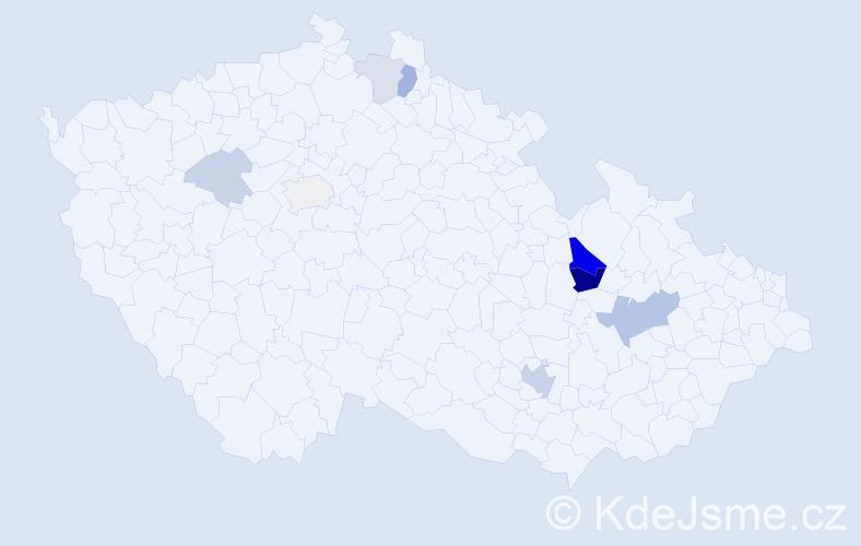 Příjmení: 'Lajdorfová', počet výskytů 22 v celé ČR