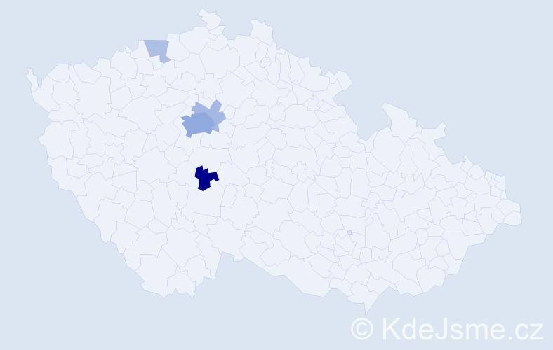 Příjmení: 'Kodiš', počet výskytů 14 v celé ČR