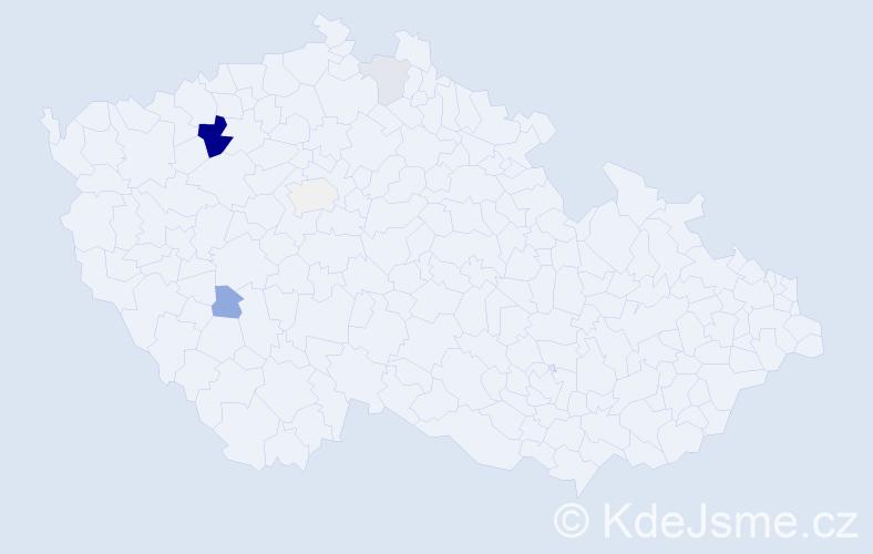 Příjmení: 'Cíglová', počet výskytů 13 v celé ČR