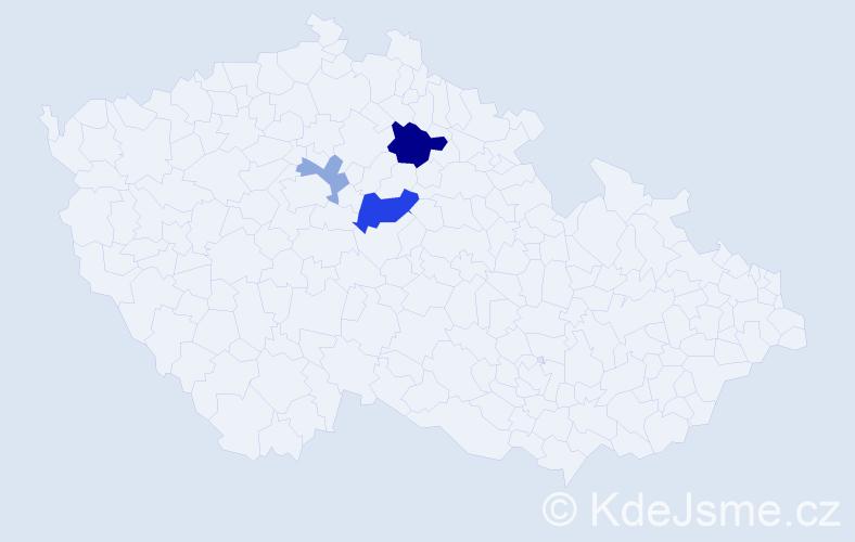 Příjmení: 'Čimo', počet výskytů 7 v celé ČR