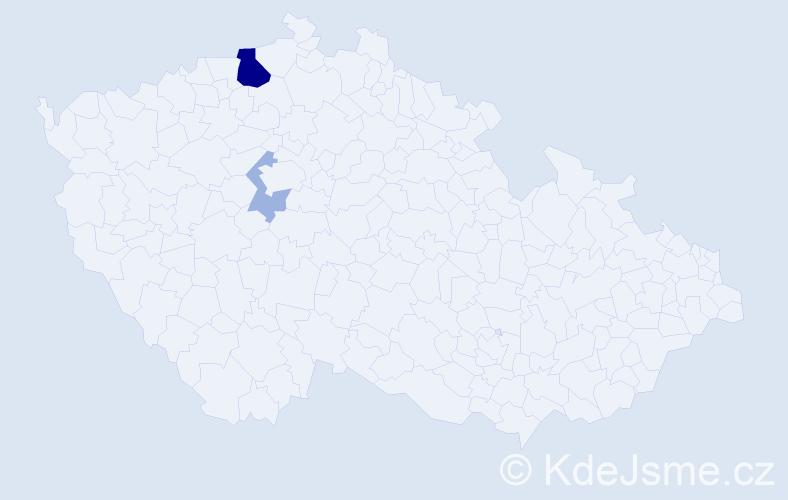 Příjmení: 'Kökert', počet výskytů 7 v celé ČR