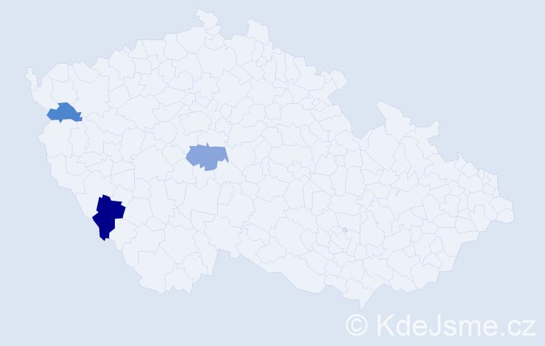 Příjmení: 'Halbhuber', počet výskytů 4 v celé ČR