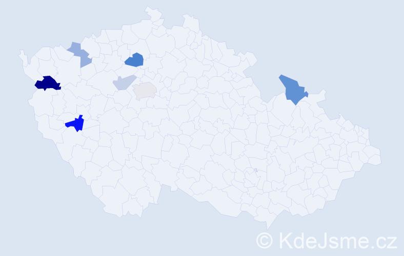 Příjmení: 'Bartkowiaková', počet výskytů 13 v celé ČR