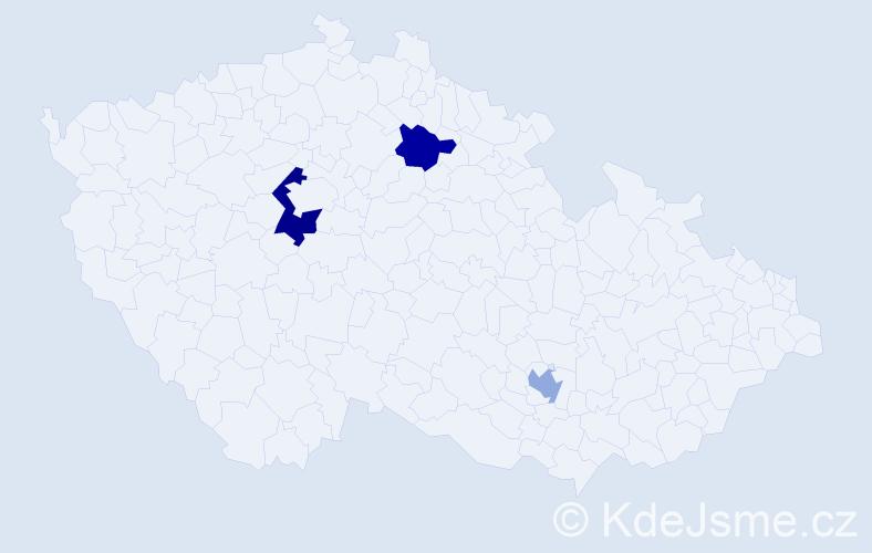 Příjmení: 'Crane', počet výskytů 4 v celé ČR
