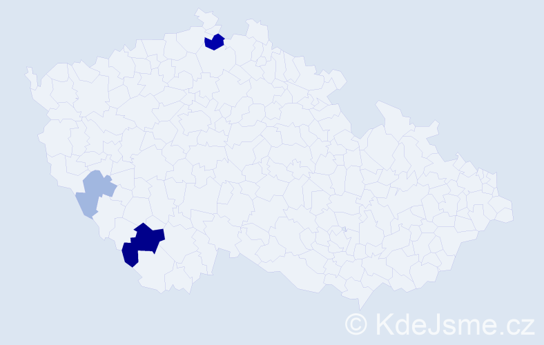 Příjmení: 'Jungvirth', počet výskytů 8 v celé ČR