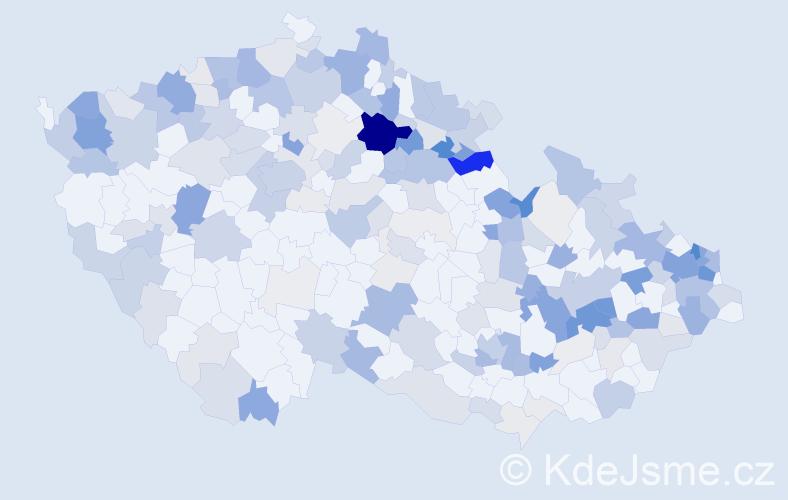 Příjmení: 'Danišová', počet výskytů 749 v celé ČR