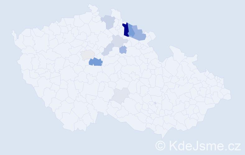 Příjmení: 'Fajstavr', počet výskytů 32 v celé ČR