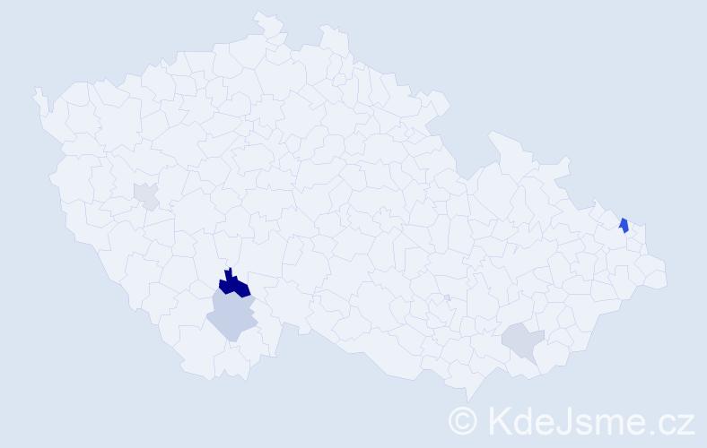 Příjmení: 'Barbulák', počet výskytů 11 v celé ČR