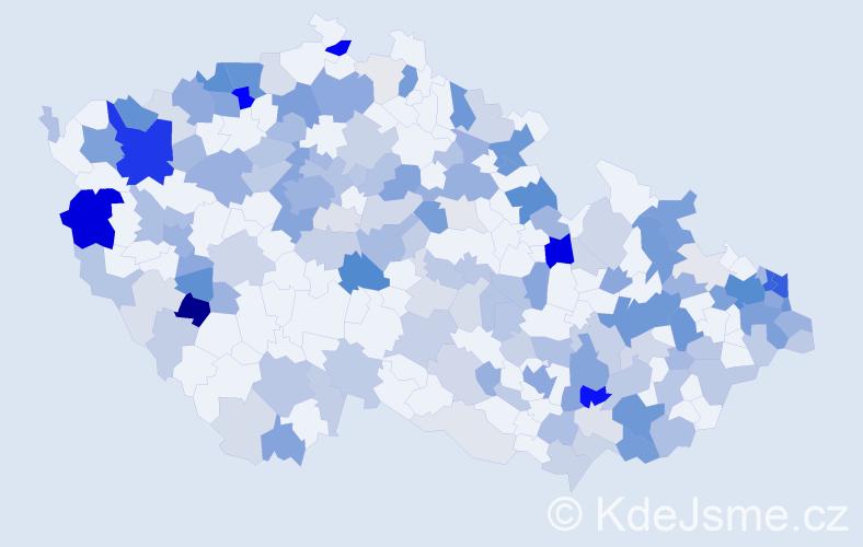 Příjmení: 'Kollár', počet výskytů 543 v celé ČR