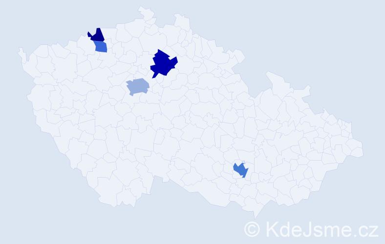 Příjmení: 'Göpfertová', počet výskytů 10 v celé ČR