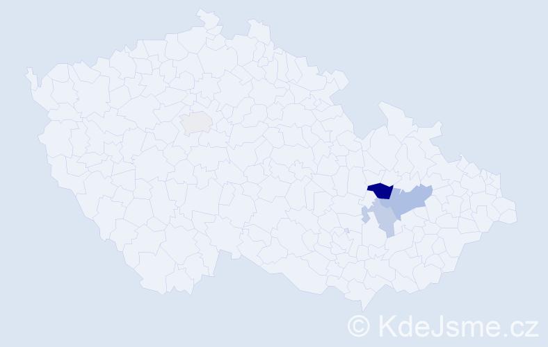 Příjmení: 'Baciak', počet výskytů 7 v celé ČR