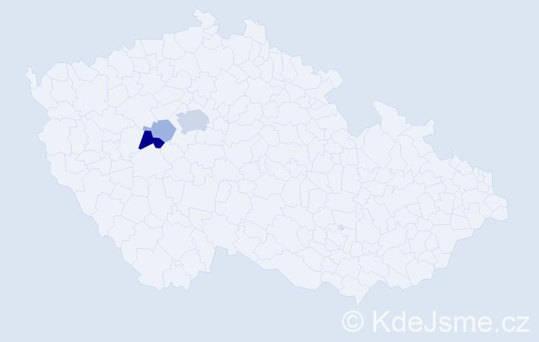 Příjmení: 'Babel', počet výskytů 9 v celé ČR