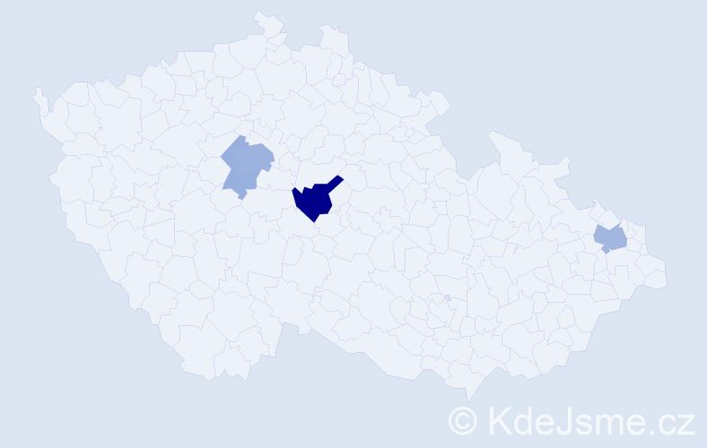 Příjmení: 'Bielický', počet výskytů 13 v celé ČR