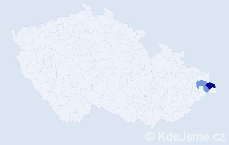Příjmení: 'Holovenčuková', počet výskytů 3 v celé ČR