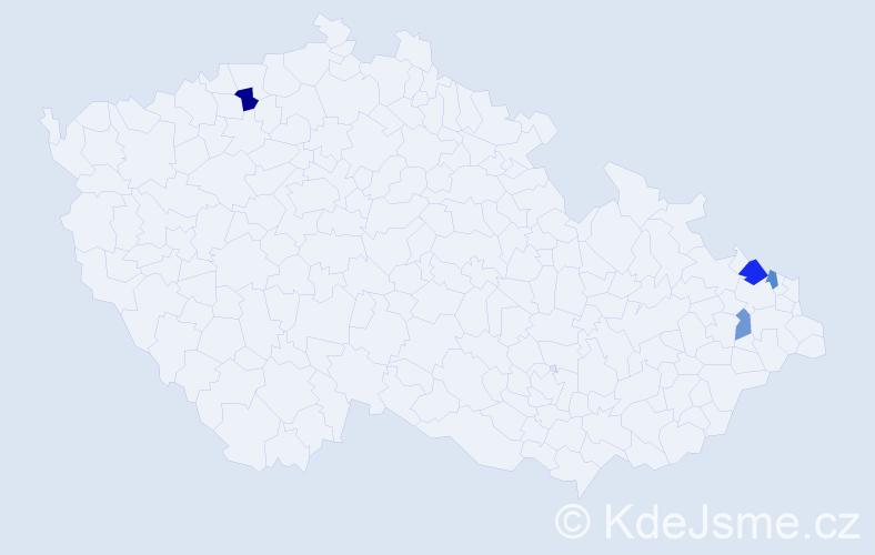 Příjmení: 'Grümann', počet výskytů 11 v celé ČR