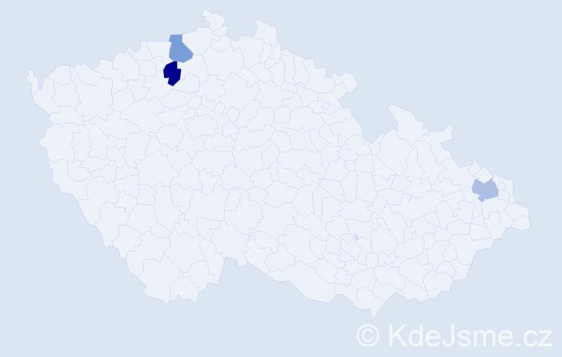 Příjmení: 'Karpjuk', počet výskytů 3 v celé ČR