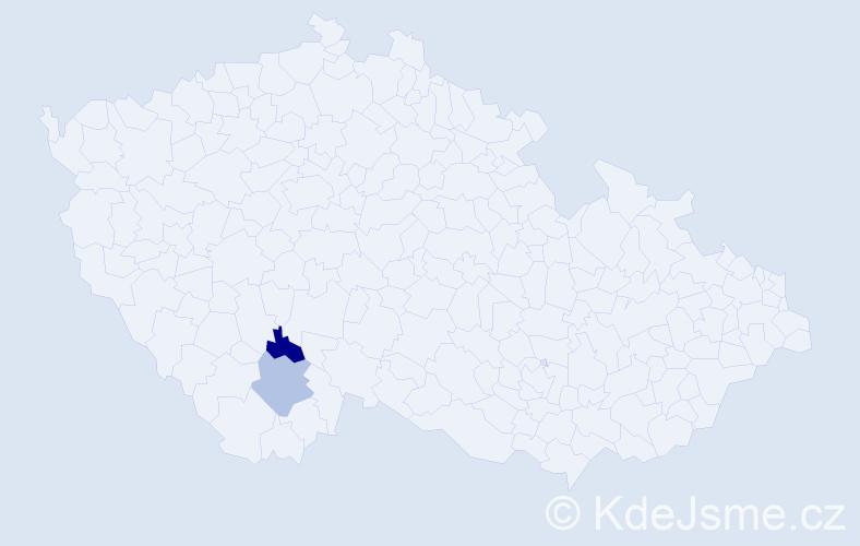Příjmení: 'Balážík', počet výskytů 2 v celé ČR