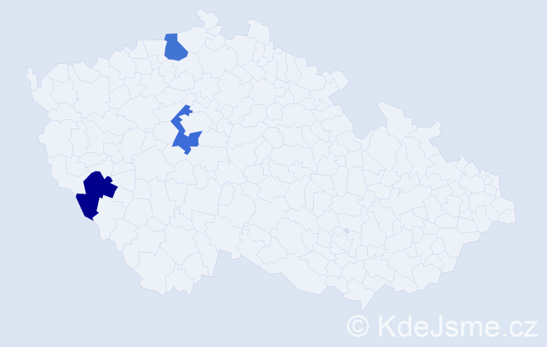 Příjmení: 'Imrichovič', počet výskytů 6 v celé ČR