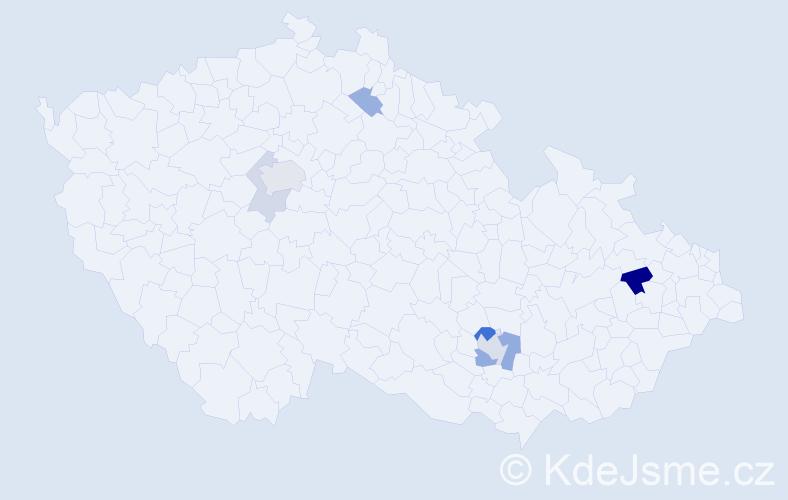 Příjmení: 'Holz', počet výskytů 14 v celé ČR