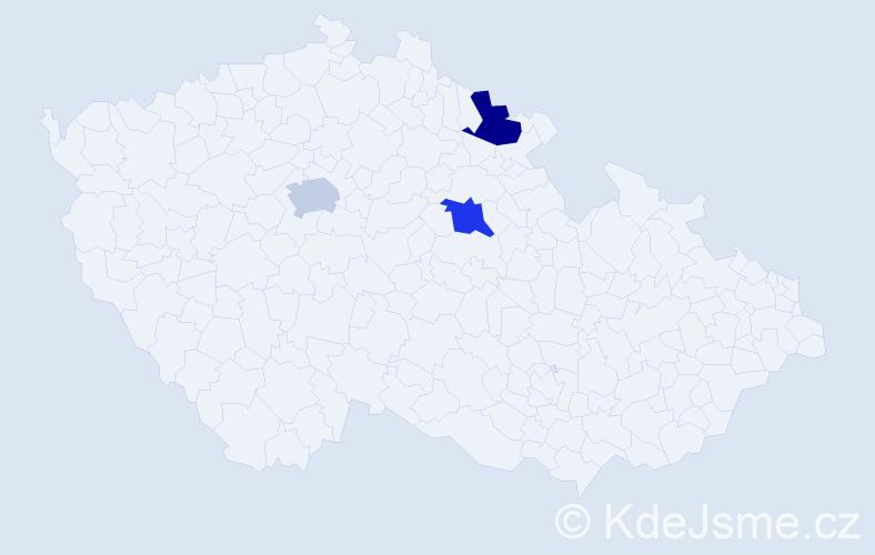 Příjmení: 'Cascino', počet výskytů 3 v celé ČR