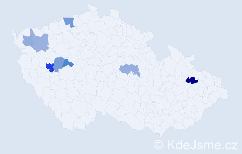 Příjmení: 'Kuffnerová', počet výskytů 14 v celé ČR