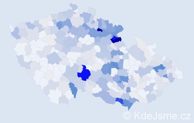 Příjmení: 'Hrnčířová', počet výskytů 1299 v celé ČR