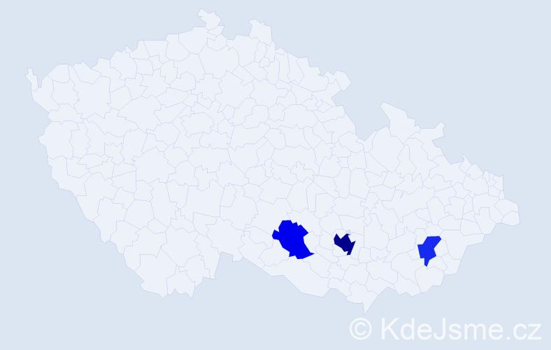 Příjmení: 'Campana', počet výskytů 6 v celé ČR
