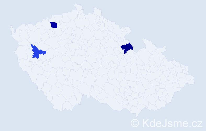 Příjmení: 'Hakoš', počet výskytů 4 v celé ČR