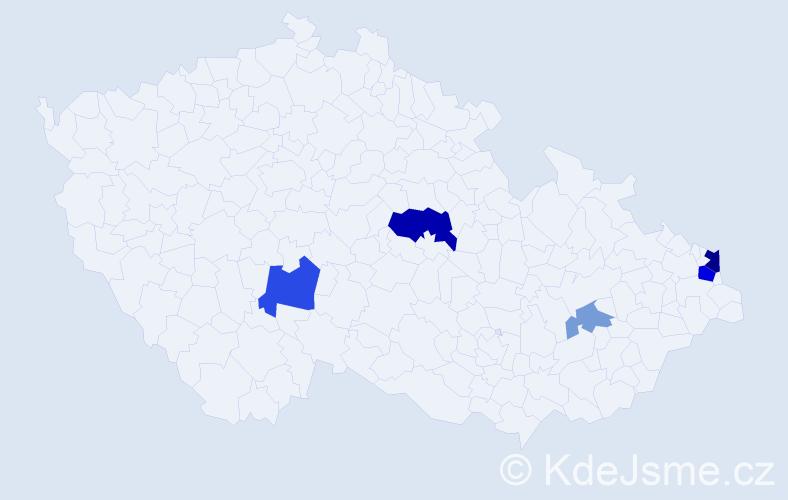 Příjmení: 'Čavrnoch', počet výskytů 12 v celé ČR