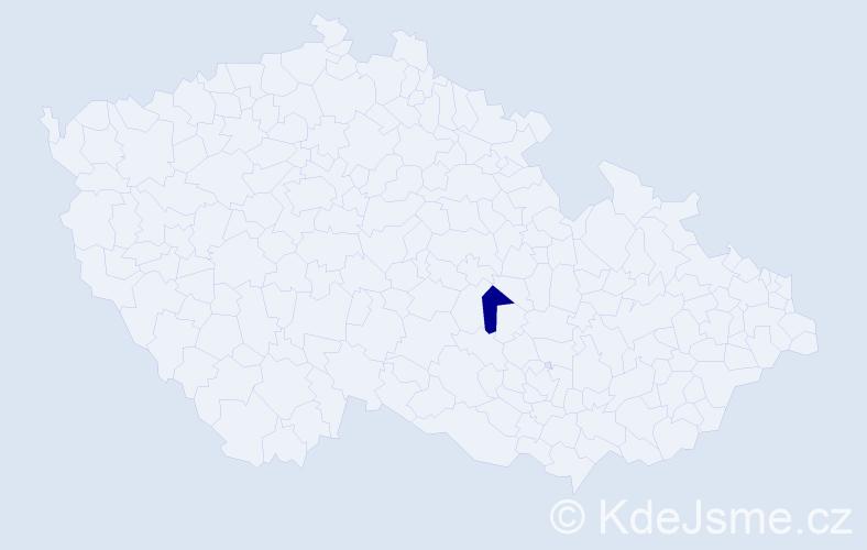 """Příjmení: '""""Hubáčková Pokorná""""', počet výskytů 1 v celé ČR"""