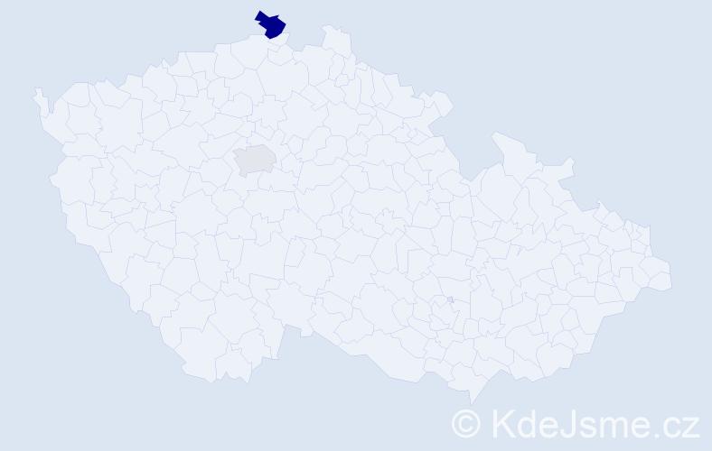 Příjmení: 'Borgová', počet výskytů 3 v celé ČR