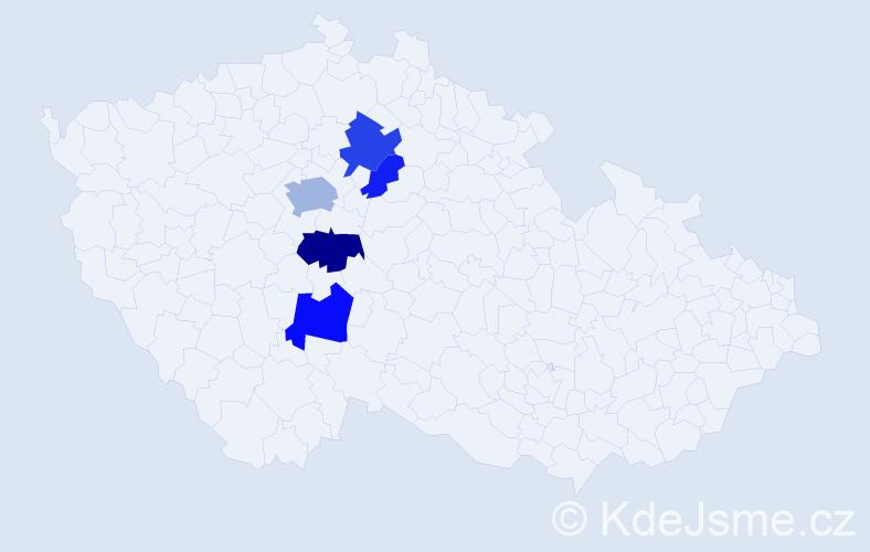 Příjmení: 'Cirmon', počet výskytů 11 v celé ČR