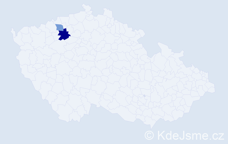 Příjmení: 'Gudz', počet výskytů 3 v celé ČR