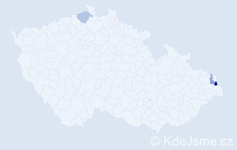 Příjmení: 'Aertsová', počet výskytů 7 v celé ČR