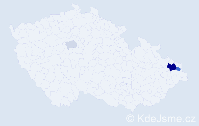 Příjmení: 'Genšerovská', počet výskytů 13 v celé ČR