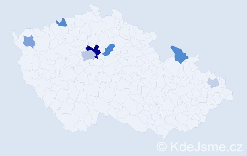 Příjmení: 'Furák', počet výskytů 13 v celé ČR