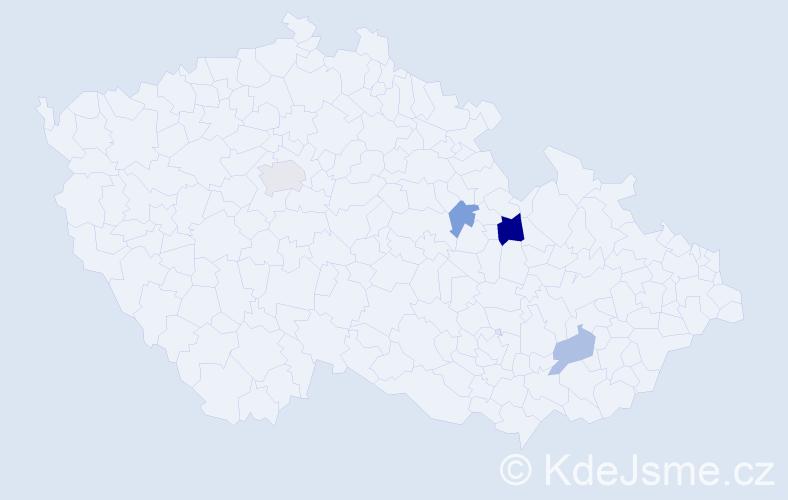 Příjmení: 'Braik', počet výskytů 12 v celé ČR