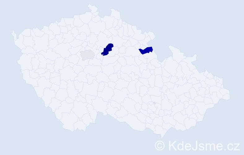 Příjmení: 'Joová', počet výskytů 4 v celé ČR