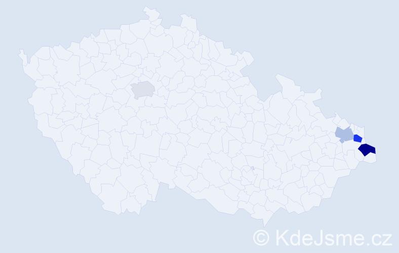 Příjmení: 'Kaifoszová', počet výskytů 6 v celé ČR