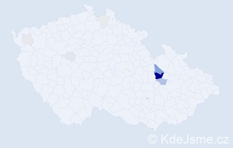 Příjmení: 'Damajka', počet výskytů 22 v celé ČR