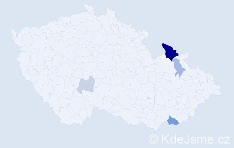 Příjmení: 'Cundrlová', počet výskytů 11 v celé ČR