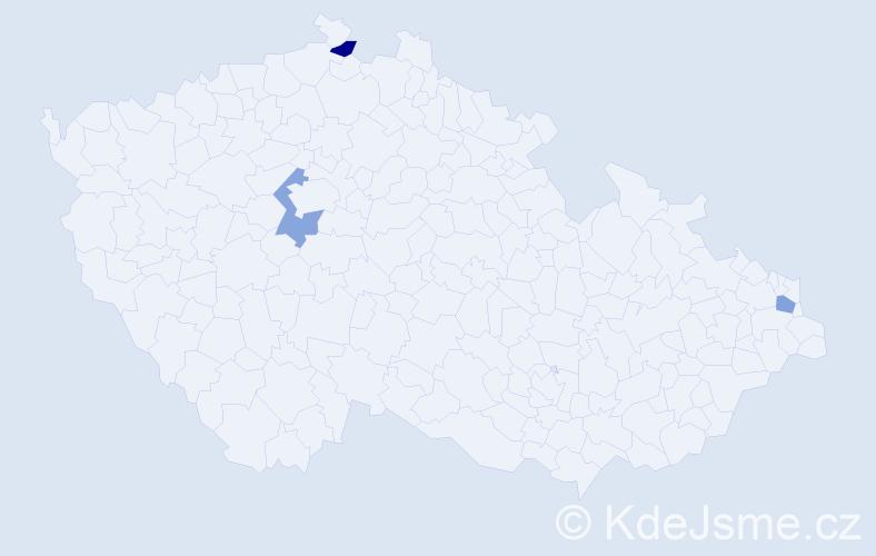 Příjmení: 'Jakubowska', počet výskytů 6 v celé ČR