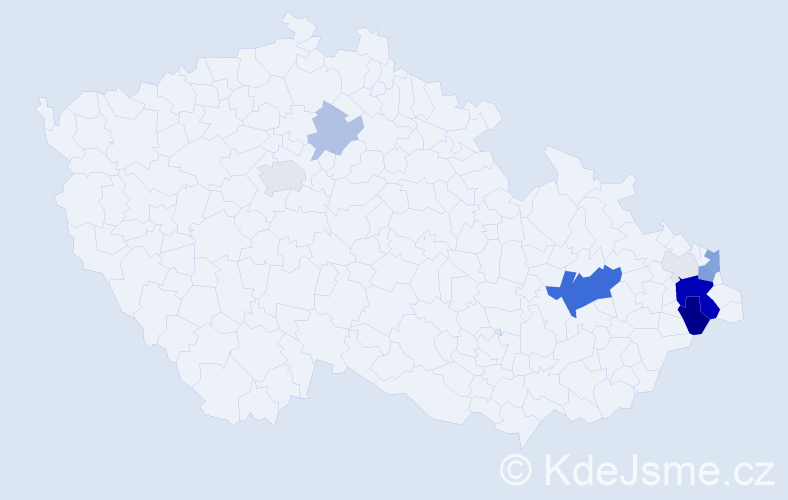 Příjmení: 'Horyl', počet výskytů 42 v celé ČR