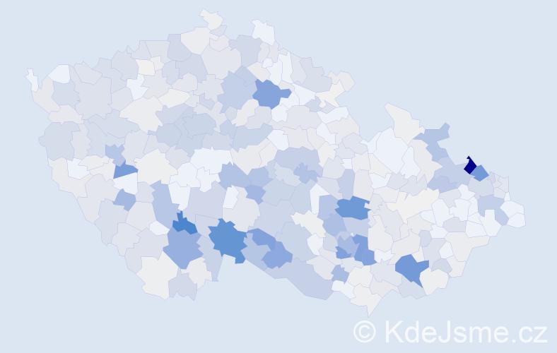 Příjmení: 'Boček', počet výskytů 1838 v celé ČR