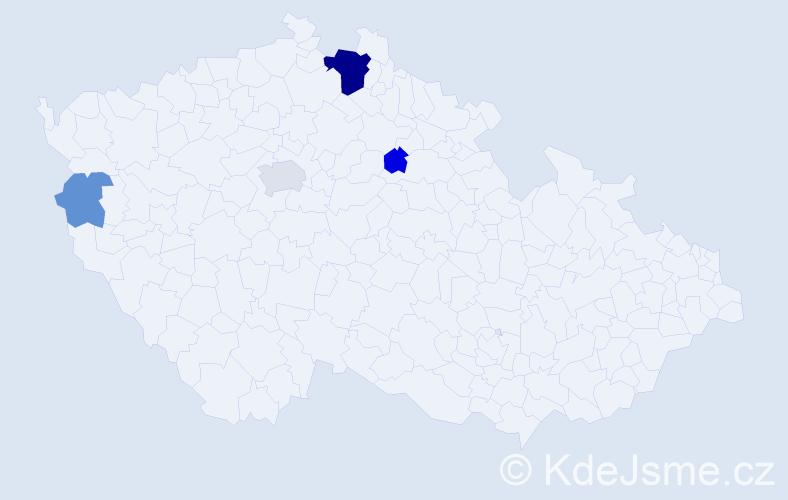 Příjmení: 'Jackmann', počet výskytů 11 v celé ČR