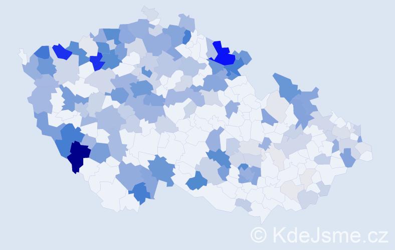 Příjmení: 'Hofmannová', počet výskytů 664 v celé ČR