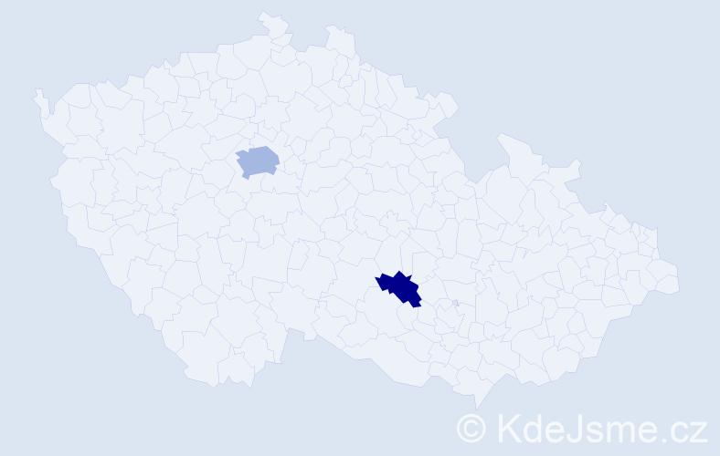 """Příjmení: '""""El Sayedová""""', počet výskytů 4 v celé ČR"""