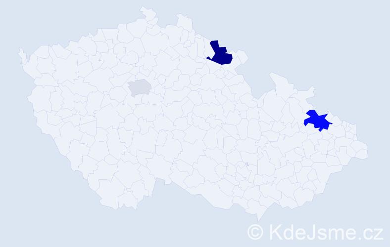Příjmení: 'Fallerová', počet výskytů 5 v celé ČR