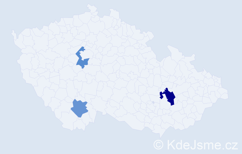 Příjmení: 'Čakan', počet výskytů 8 v celé ČR